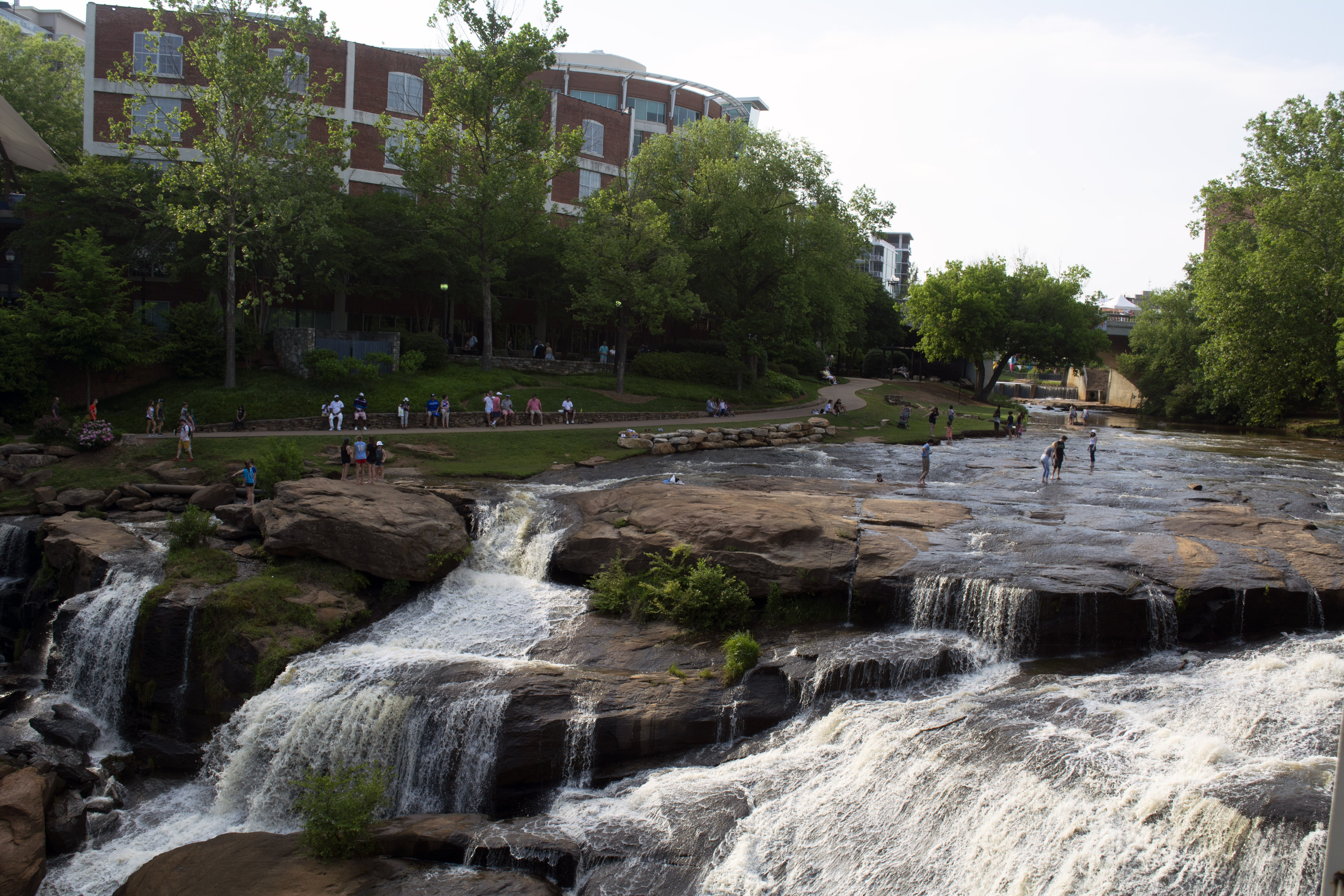 Falls park in downtown Greenville, SC
